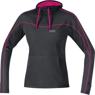 Warmes Damen-Lauftrikot Essential Lady Hoddy, 40, Schwarz/Pink