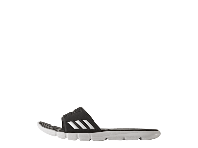 Damen-Badeschuh adipure cloudfoam woman, 8, Core Black/White