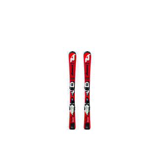 Nordica Junior-Ski Team J RACE FDT inkl. JR4.5 FDT Bindung, 120 cm, Schwarz/Rot