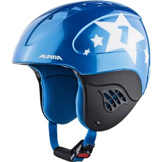 Kinder-Skihelm CARAT, 48, blue-star
