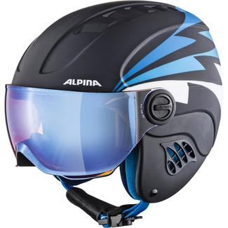 Kinder-Skihelm CARAT LE Visor HM, 54, nightblue-denim matt