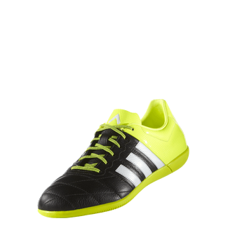H.FB-Hallenschuh ACE 15.3 IN Leather, 10.5, CBLACK/FTWWHT/SYELLO