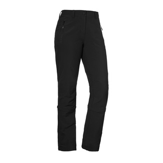 Damen-Wanderhose Pants Endagin Zip Off, 23, schwarz