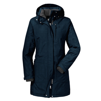Damen-Wanderjacke Insulated Parka Monterey, 38, nightblue