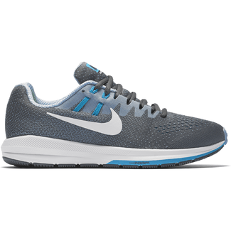 Men's Nike Air Zoom Structure 20 Running Shoe - 7.5 - DK GREY/WHITE-BLUE GREY-BL LGN