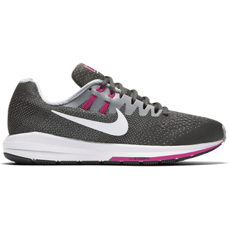 Women's Nike Air Zoom Structure 20 Running Shoe ANTHRCT/WHITE-WLF GRY-FR PNK, 5
