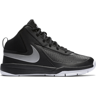 Nike Team Hustle D 7 (3.5y-7y), 3.5, BLACK/METALLIC SILVER-WHITE-BL