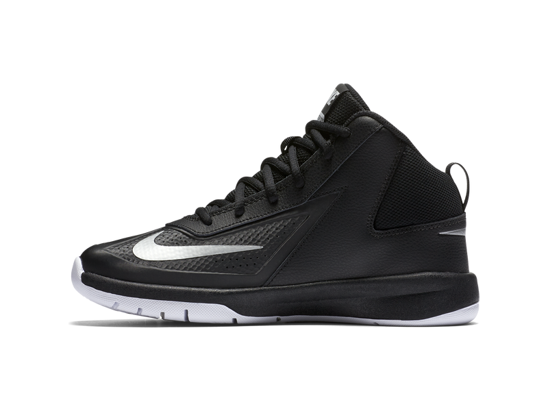 Nike Team Hustle D 7 (3.5y-7y) - 4.5 - BLACK/METALLIC SILVER-WHITE-BL