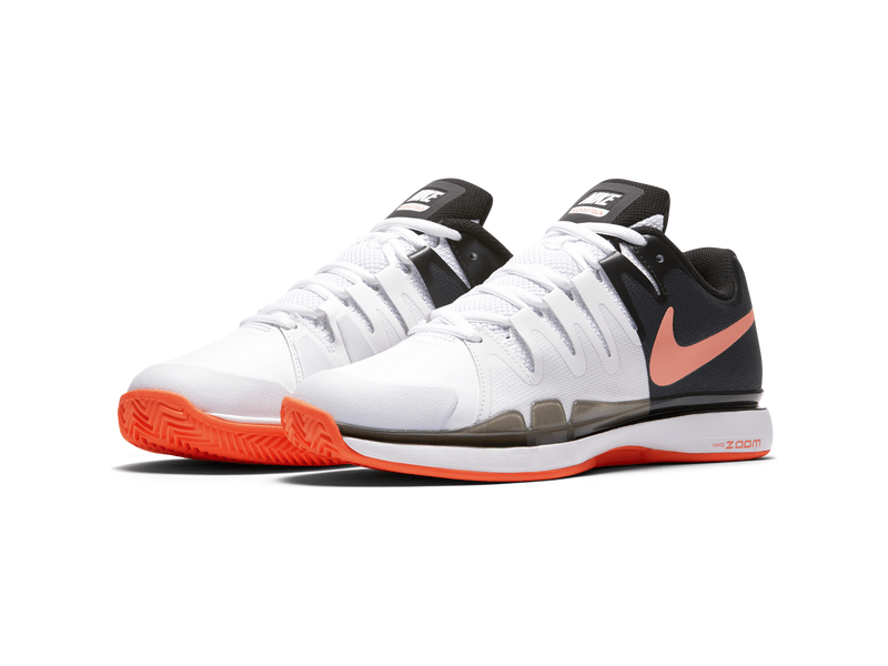 Damen-Tennisschuh Nike Air Zoom Vapor 9.5 Tour Clay, 5.5, WHITE/HYPER ORANGE-BLACK
