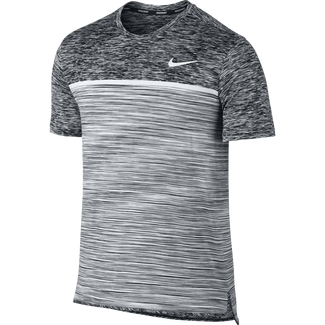 Men's NikeCourt Dry Challenger Tennis Top - M - BLACK/DARK GREY/PURE PLATINUM/