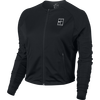 Women's NikeCourt Tennis Jacket - L - BLACK/WHITE