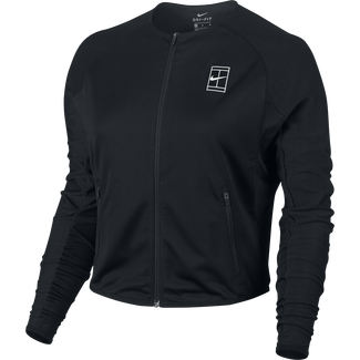 Women's NikeCourt Tennis Jacket - M - BLACK/WHITE