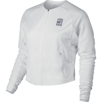 Women's NikeCourt Tennis Jacket - S - WHITE/BLACK/BLACK