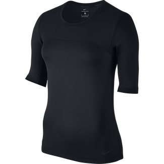 Women's Nike Pro Hypercool Top - S - BLACK/BLACK