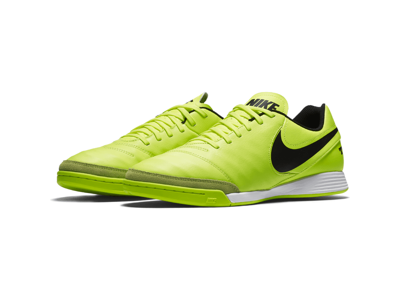 dauerhafte Modellierung beliebt kaufen fairer Preis Fußball-Hallenschuhe Nike Tiempo Genio II Leather (IC), 10.5,  VOLT/BLACK-VOLT