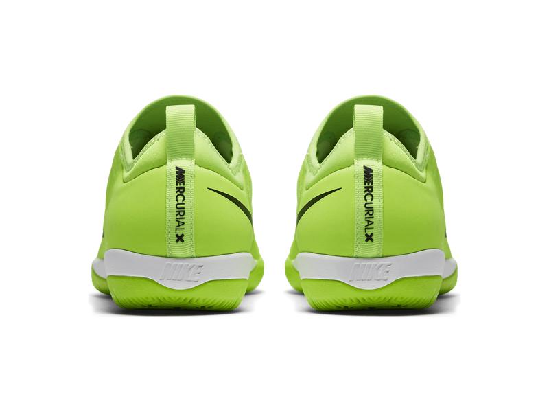 Fußball Hallenschuhe Nike MercurialX Finale II (IC), 10, FLASH LIMEBLACK WHITE GUM LIG