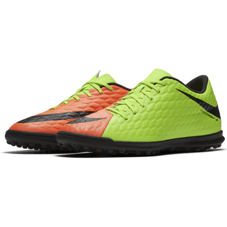 Men's Nike HypervenomX Phade III (TF) Artificial-Turf Football Boot - 7 - ELECTRIC GREEN/BLACK-HYPER ORA