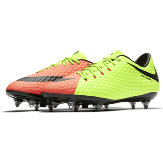 Men's Nike Hypervenom Phelon III (SG) Soft-Ground Football Boot - 7.5 - ELECTRIC GREEN/BLACK-HYPER ORA