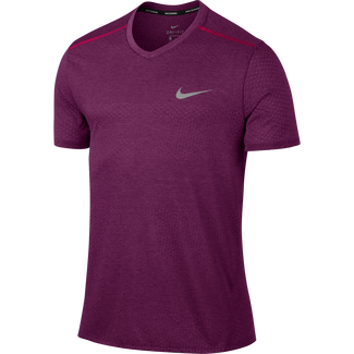 Men's Nike Breathe Running Top - M - TRUE BERRY/HTR/TRUE BERRY