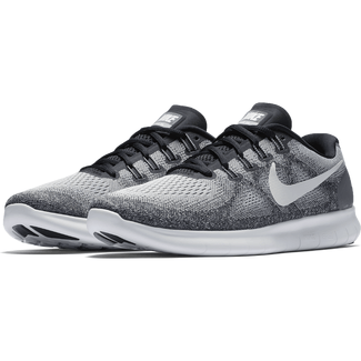 Herren-Trainingsschuh Men's Nike Free RN 2017 Running Shoe, 9.5, WOLF GREY/OFF WHITE-PURE PLATI
