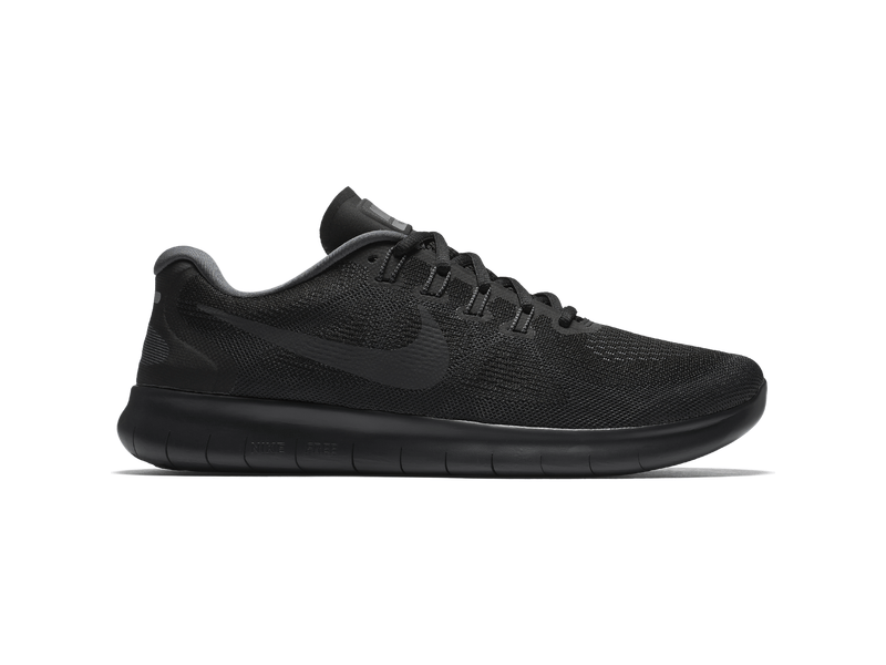 Herren Trainingsschuh Men's Nike Free RN 2017 Running Shoe, 7.5, BLACKANTHRACITE DARK GREY COO