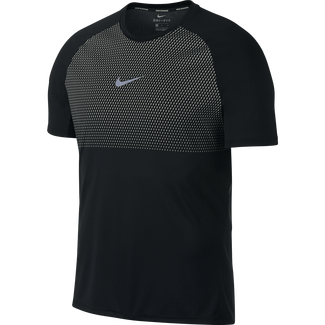 Men's Nike Breathe Running Top - L - BLACK/PALE GREY
