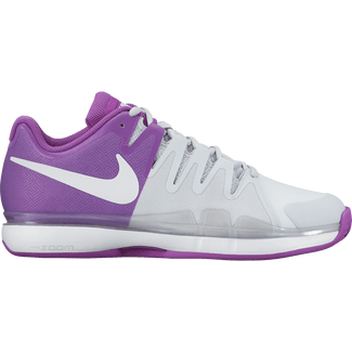 Damen-Tennisschuh Nike Air Zoom Vapor 9.5 Tour Clay PURE PLATINUM/WHITE-VIVID PURP, 8