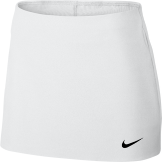 Women's NikeCourt Power Spin Tennis Skirt - S - WHITE/BLACK