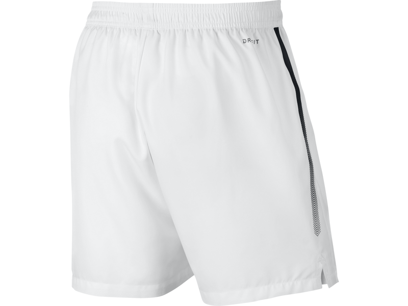Men's NikeCourt Dry Tennis Short - XL - WHITE/BLACK/BLACK