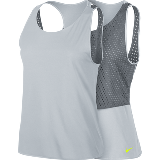 Women's Nike Breathe Training Tank - S - PURE PLATINUM/COOL GREY/VOLT