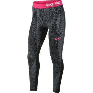 Girls' Nike Pro Training Tights - L - BLACK/BLACK/RACER PINK/RACER P