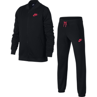 Girls' Nike Sportswear Track Suit - S - BLACK/LT FUSION RED/BLACK/LT F