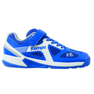 Kinder-Hallenschuhe WING JUNIOR, 38, royal/weiß