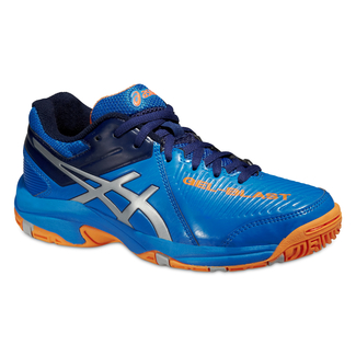 Kinder-Hallenschuhe GEL-BLAST 6 GS, 3.5, ELECTRIC BLUE/SILVER/HOT ORANG