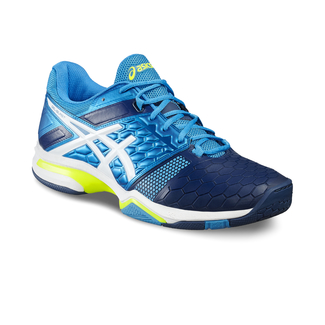 H.Hallenschuh GEL-BLAST 7, 7.5, BLUE JEWEL/WHITE/SAFETY YELLOW