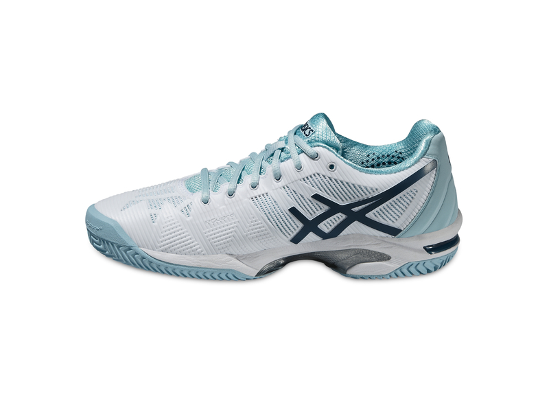 D.Tennis-Schuh GEL-SOLUTION SPEED 3 CLAY, 8, WHITE/BLUE STEEL/CRYSTEL BLUE