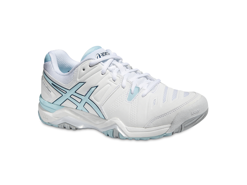 Damen-Tennisschuh GEL-CHALLENGER 10, 8, WHITE/CRYSTAL BLUE/BLUE STEEL