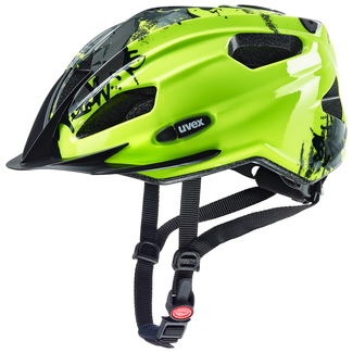 Radhelm uvex quatro junior, 50 – 55, neon yellow black