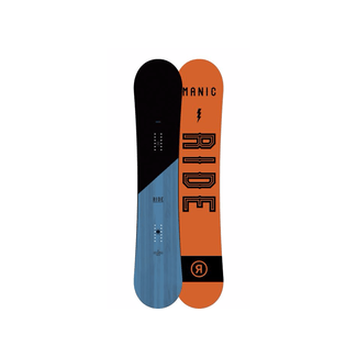 Snowboard MANIC Design inkl. Bindung Ride LX, 158, Blau/Orange