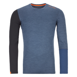 Herren-Funktionswäsche 185 ROCK'N'WOOL LONG SLEEVE, XL, night blue blend