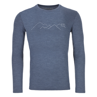 Herren-Funktionswäsche 185 MERINO MOUNTAIN LS M, L, night blue blend