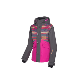 Jugend-Skijacke Mood-R JR, 140, dotstripes graphite