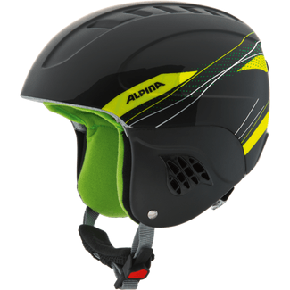Kinder-Skihelm CARAT, 48-52, black-green