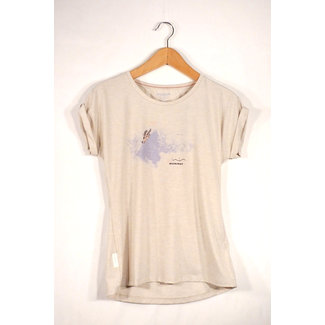 Shirt Women Mountain T-Shirt , S, bright white melange PRT1