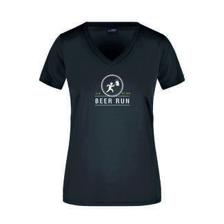 Beer Run Damen T-Shirt, XS, schwarz