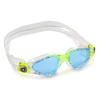 Schwimmbrille Kayenne Junior, S, transparent/light green getönt
