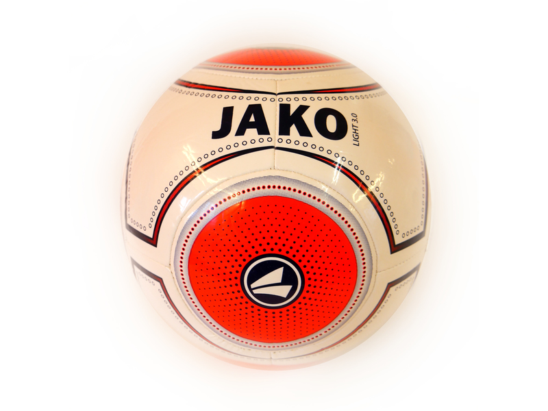 Jako Fußball light 3.0, weiß/flame/nightblue