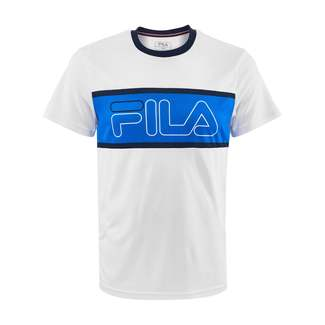 Herren-Tennis-T-Shirt Connor, 48, weiß-blau