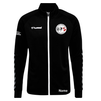 SG Ulm & Wiblingen HMLAUTHENTIC POLY ZIP JACKET, 116, black/white