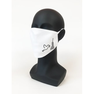 Ulmer Spatz - Maske | Ulmer City Marketing, weiß, L
